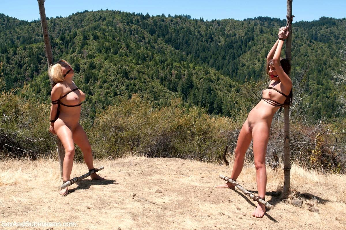 Outdoor Bondage Punishment With Nettles