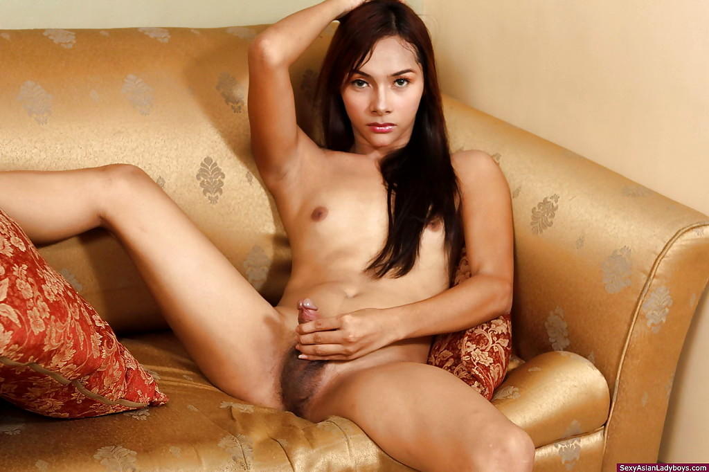 Beautiful Hot Ladyboy Removing Her Pink Nightie And Wanking Meat Until Spyfam 1