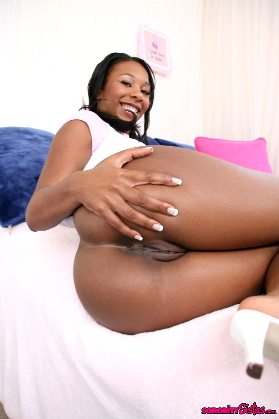 Ebony tasha footjob