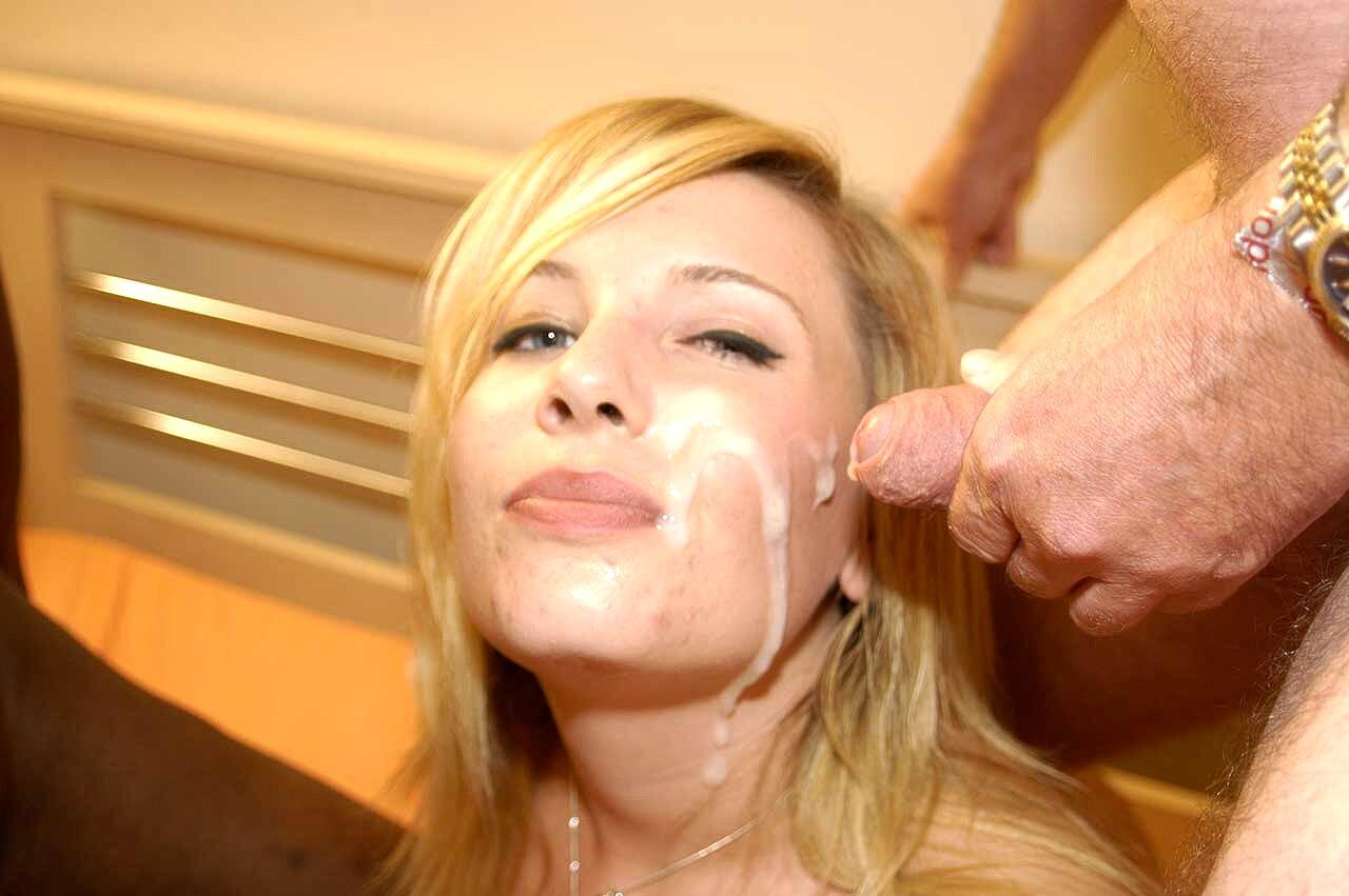 Horny Blonde Shemale Ass Full Of Fresh Sperm