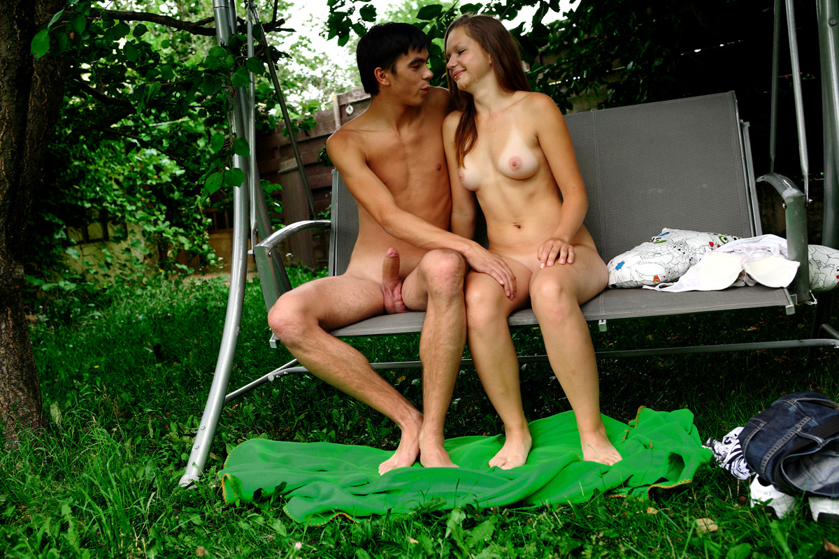 Lubed lubed up sticky backyard sex