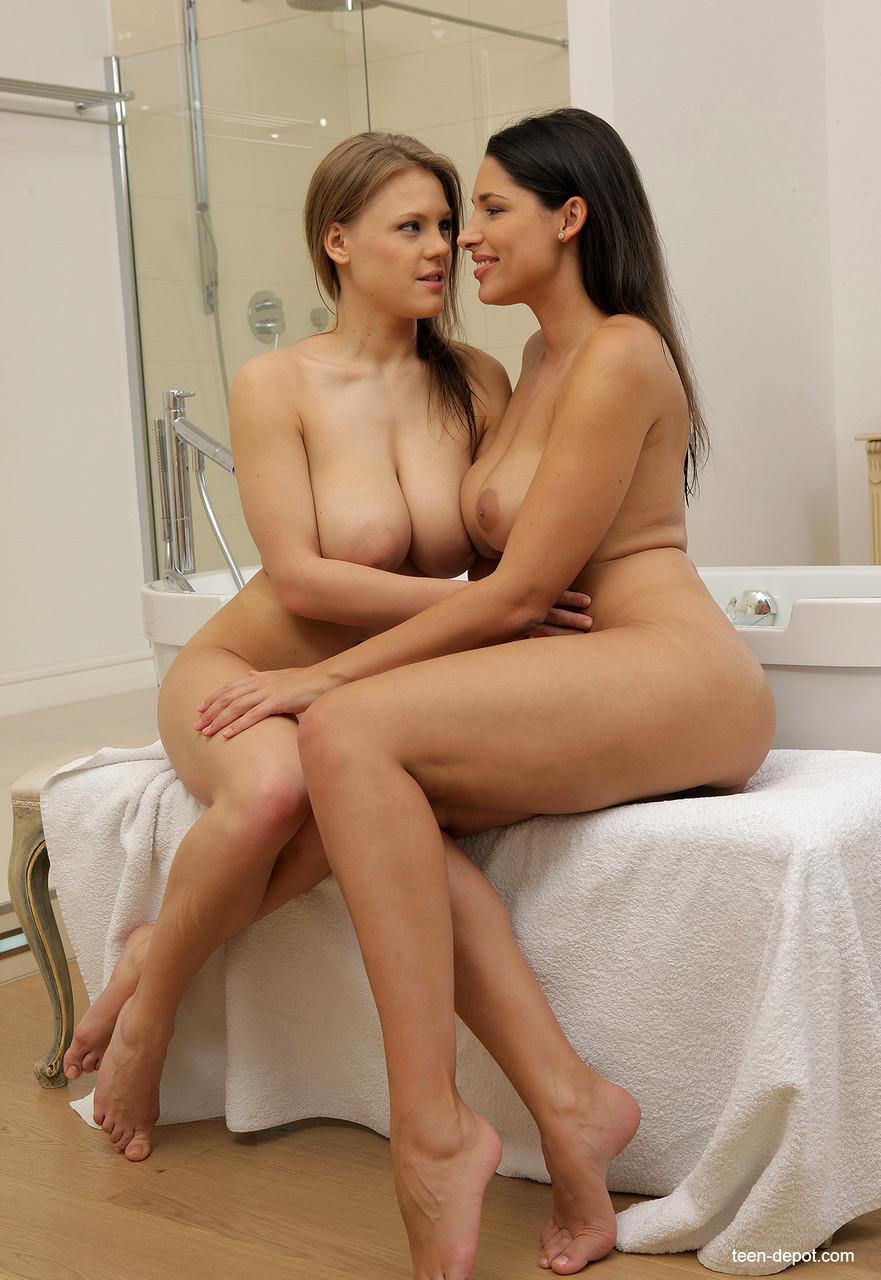 Busty lesbian vs