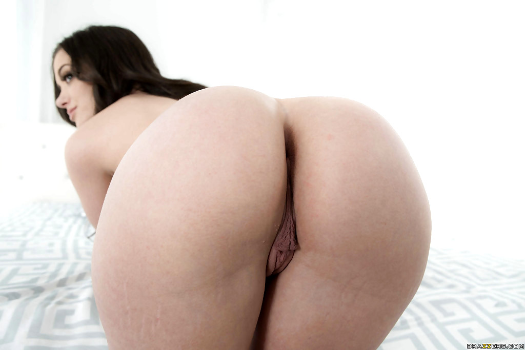 Big ass brunette slides on a long black pole 4