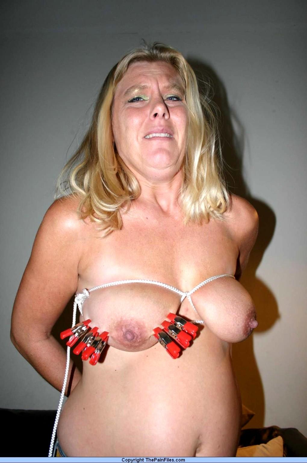 Bdsm boob bondage