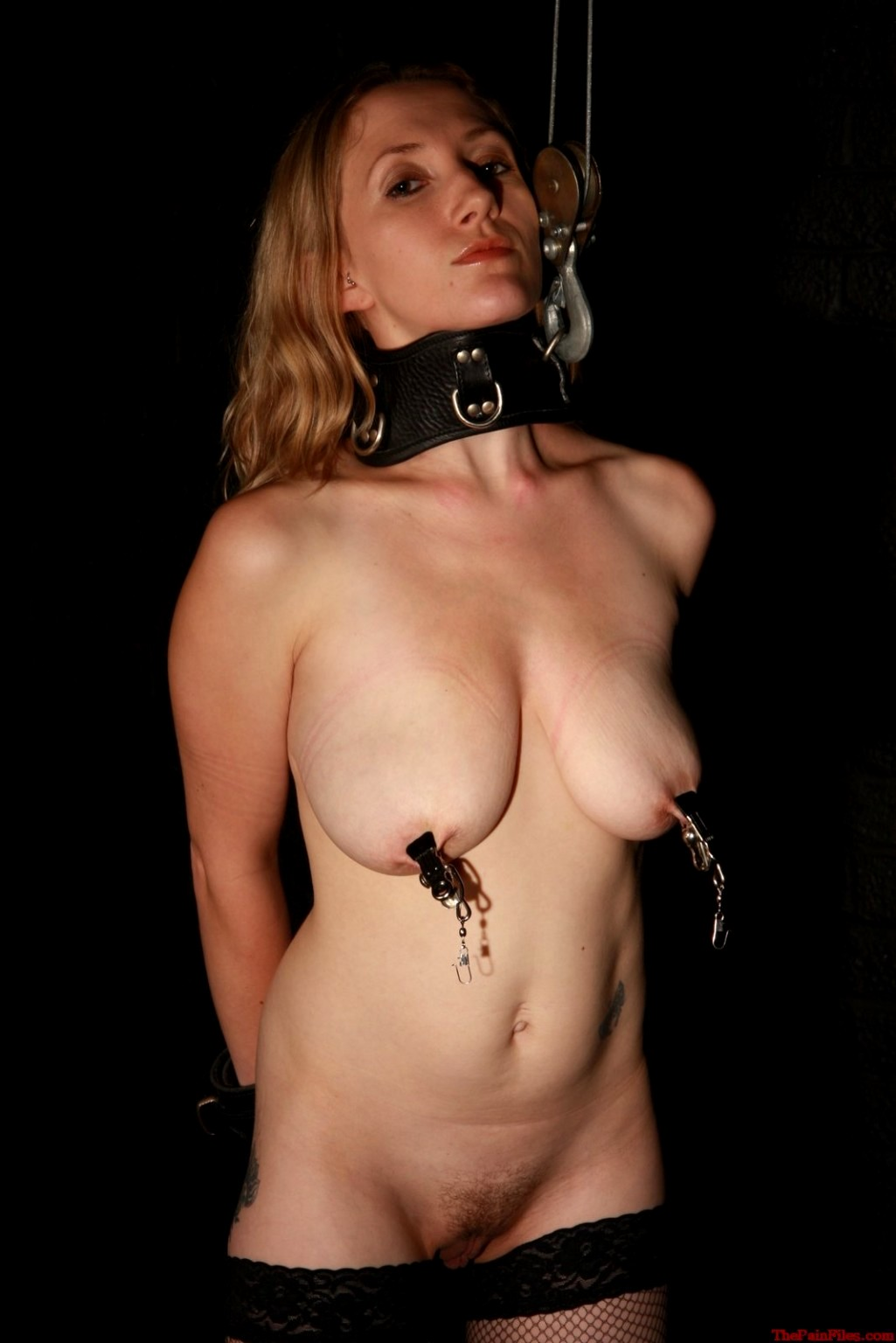 Gay pain bdsm leash collar slave
