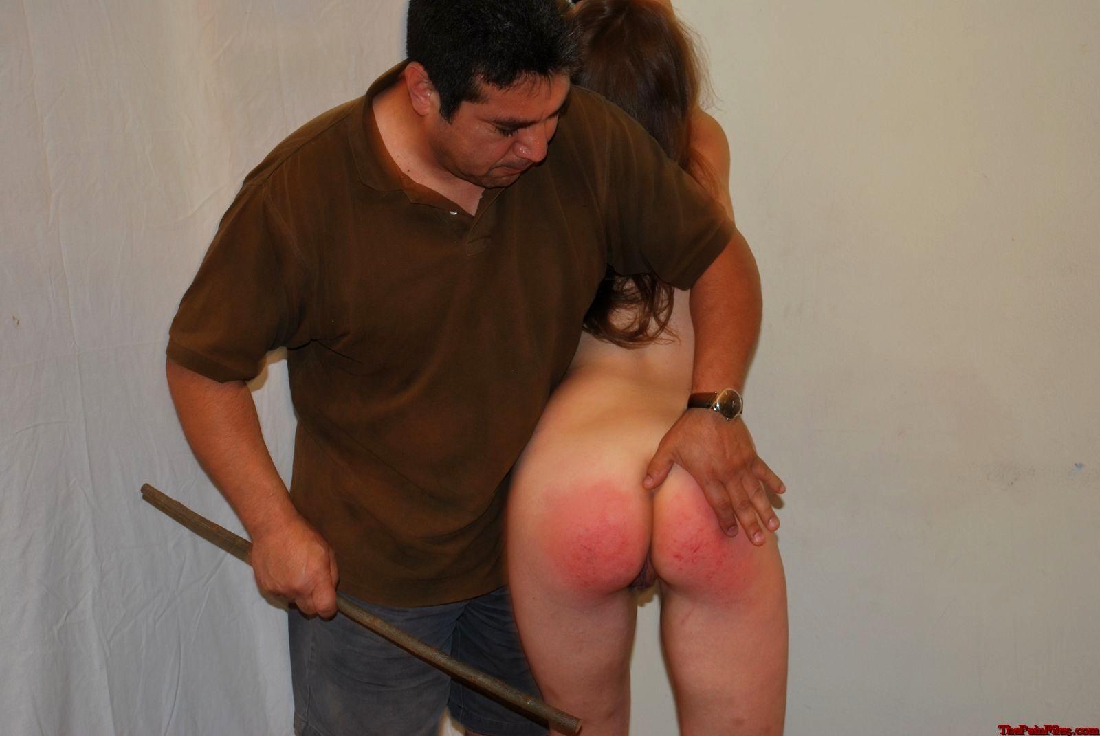 Stephanie's first spanking