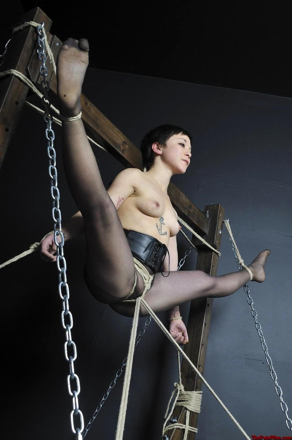 Bondage Hanging Upside Down