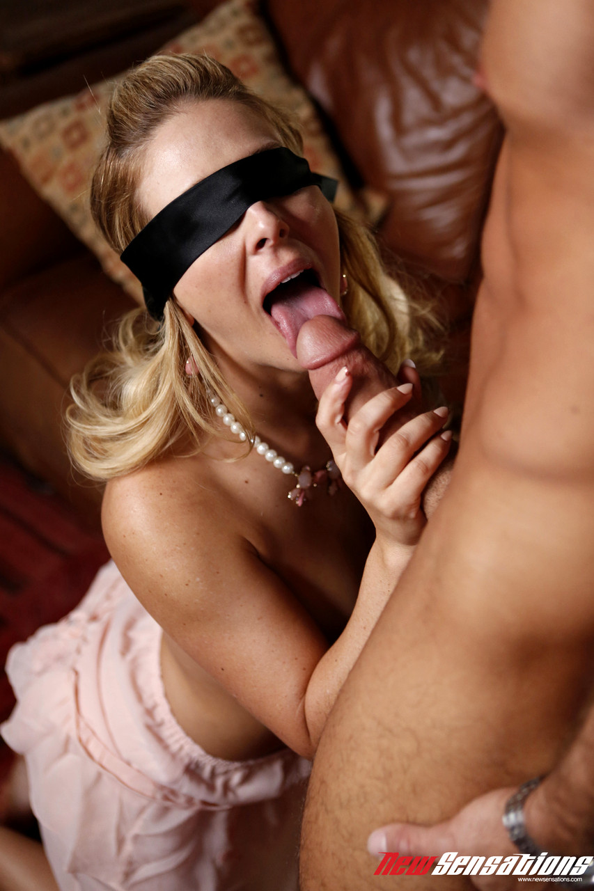 Blonde sex with strangers blindfold tattoo