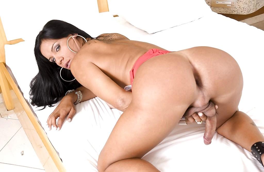 Amazing busty latina tranny on free webcam