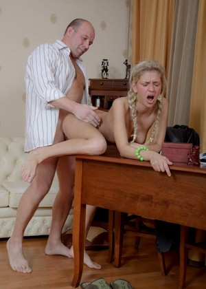 Tricky old teacher cutie uses tongue to get education 3