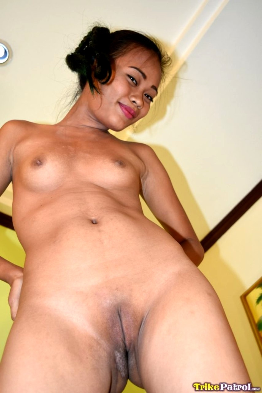 Lovely young filipina with shaved pussy enjoys fucking