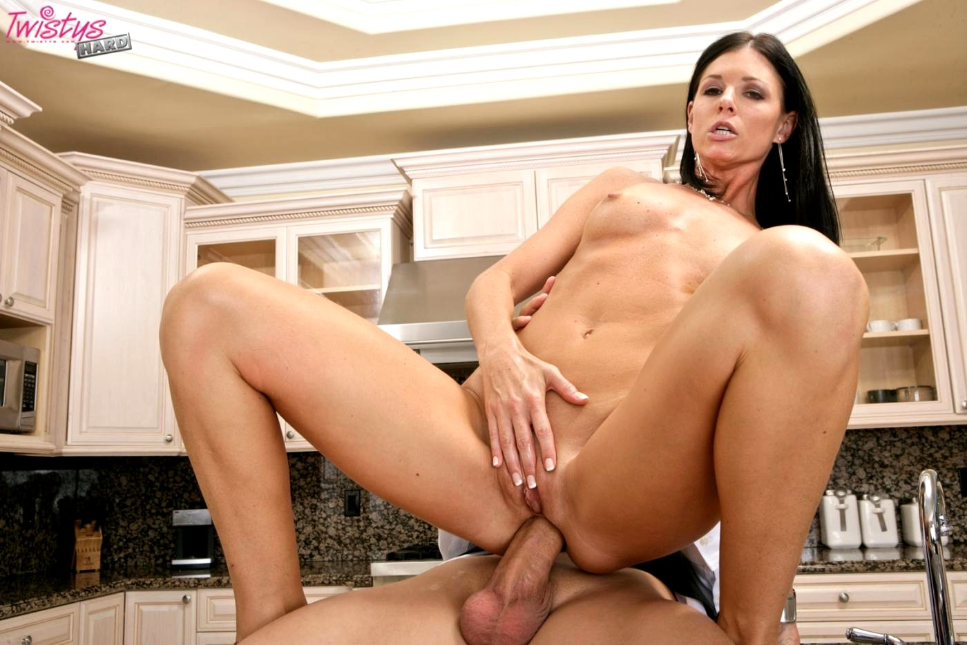 Lusty brunette mommy india summer poked in the office by chad white
