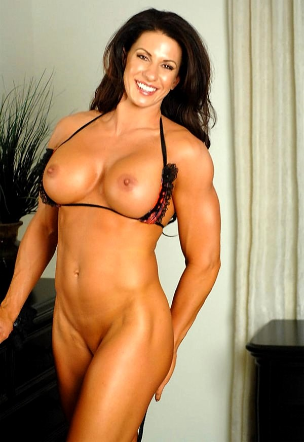 fitness nude Brunette models