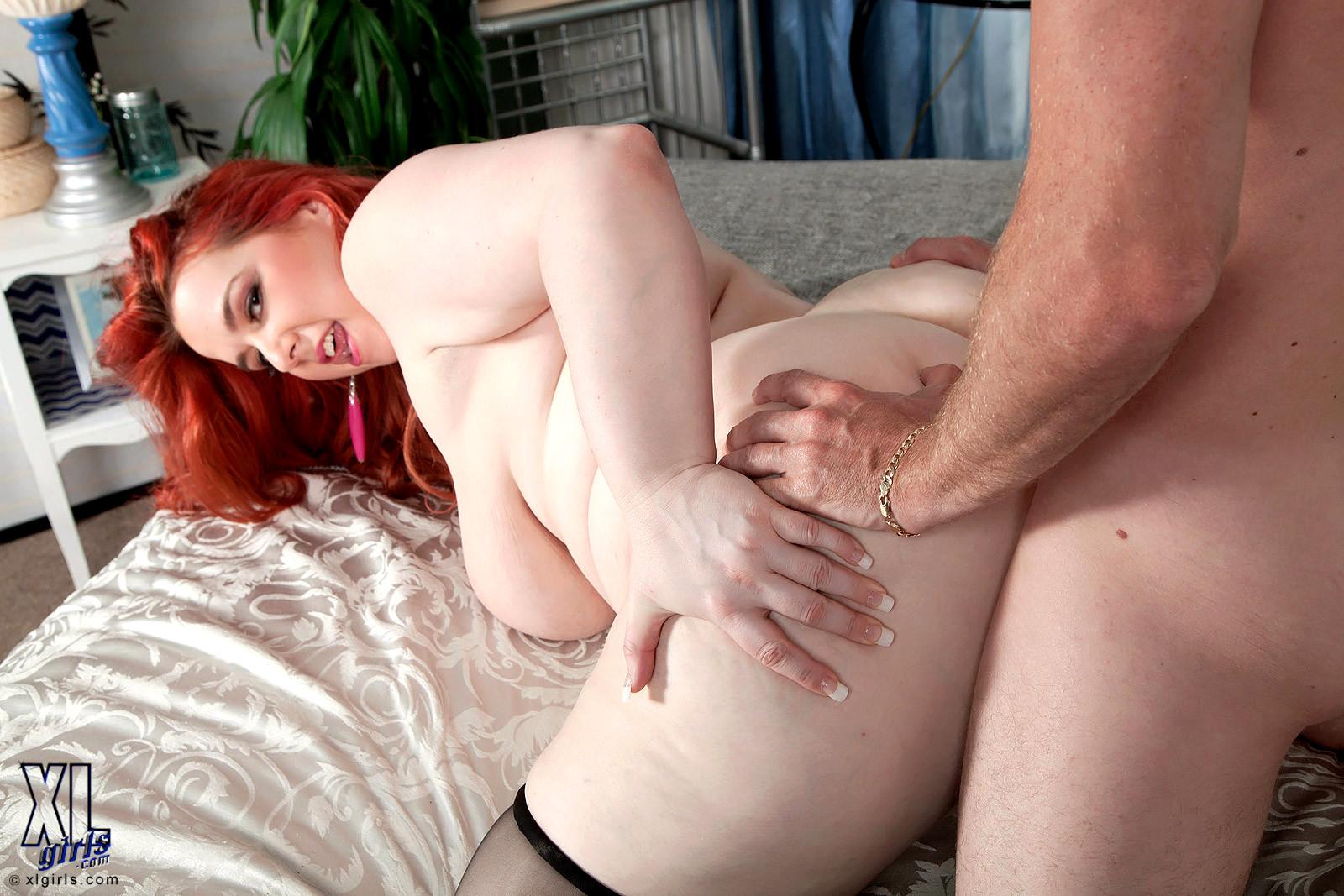 Hairy redhead threesome porn pics