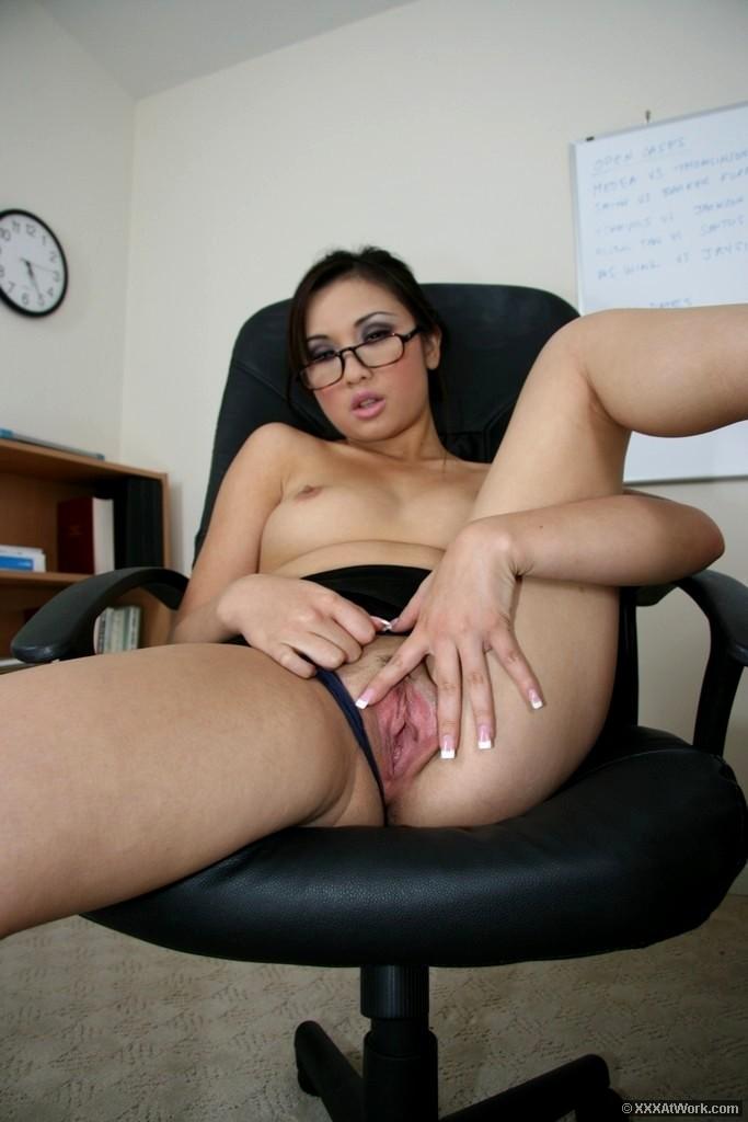 Sexy asian office secretaries
