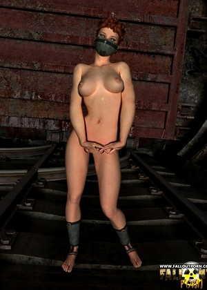 Falloutporn Falloutporn Model Unexpected Gas Mask Pin