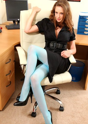 Layerednylons Emily Casual Office Xxxmag