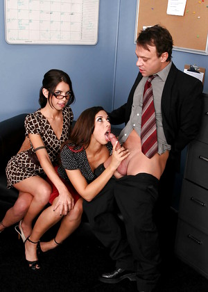 Naughtyoffice Micah Moore Rachel Starr Exchange Facial Pornpartner
