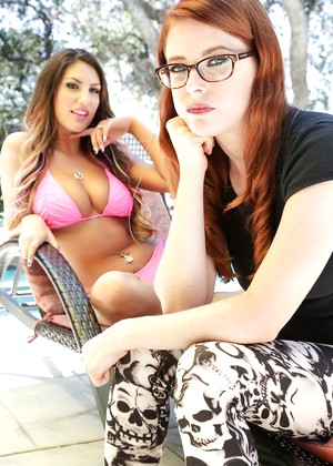 August ames and penny pax in pool