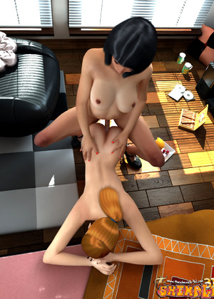 Theshemale3d Theshemale3d Model Sex Cum In Hair Vr Sex